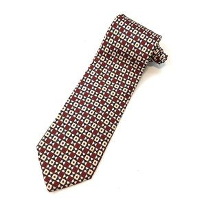 BROOKS BROTHERS Silk Geometric Mens Neck Tie